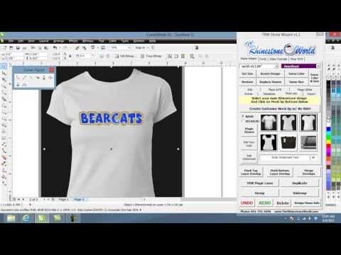 How to make a Quick Glitter Team Name Shirt design with Layers TRW Stone Wizard