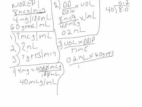 Norepinephrine Calculation 1