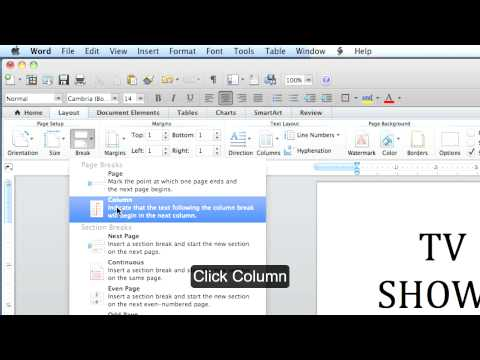 Microsoft Office Word MAC: How to Create a Flyer