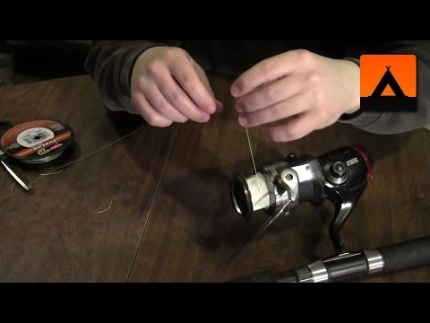 How to spool braided line on a spinning reel