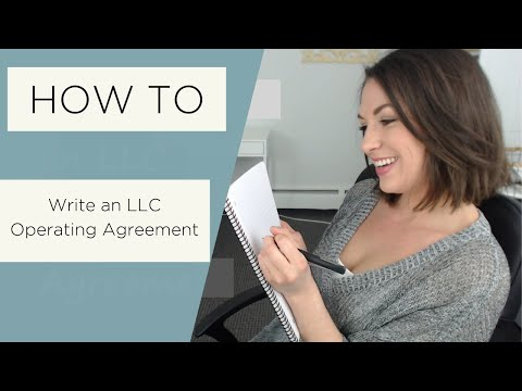 How to Write an LLC Operating Agreement - All Up In Yo' Business