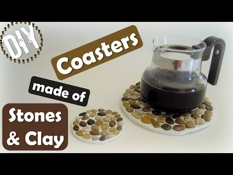 DIY Coasters made of Stones and Clay