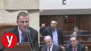 בהצבעה לפיזור הכנסת: אחמד טיבי ויולי אדלשטיין בוויכוח סוער