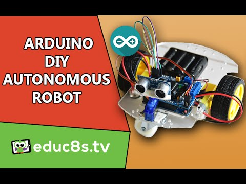 Arduino Robot Project: A DIY obstacle avoiding robot using an SG90 servo from Banggood.com