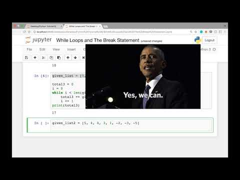 While Loops and The Break Statement in Python (Python Tutorial #6)