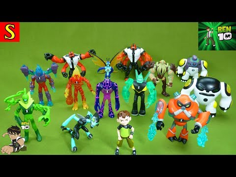 Ben 10 Toys Characters From the Cartoon Network Cannonbolt Heatblast Four Arms and Many More