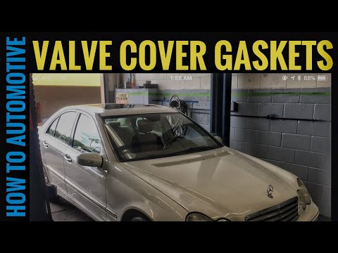 How to Replace Valve Cover Gaskets on a 2005 Mercedes C240