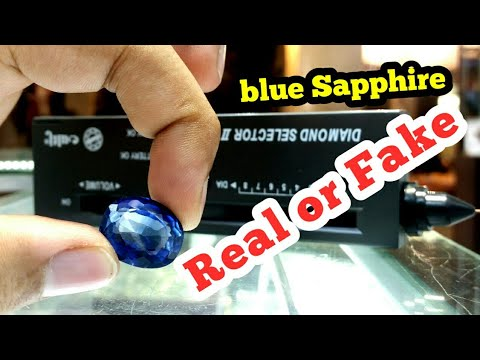 How to check blue sapphire stone Real or Fake  ( neelam pathar ) with diamond selector machine