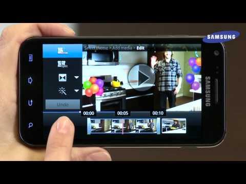 Galaxy S II - Using the Video Maker