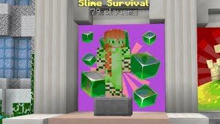 Slime Survival In Cubecraft Met Unicorn En Luca!!