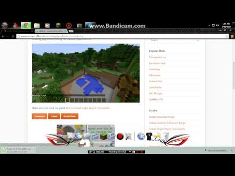 How To Install World Edit + Minecraft + Forge! MEdia Fire links!