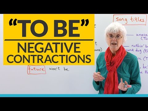 English Grammar: Negative contractions of the verb