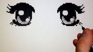 Pixel Art Yeux Manga