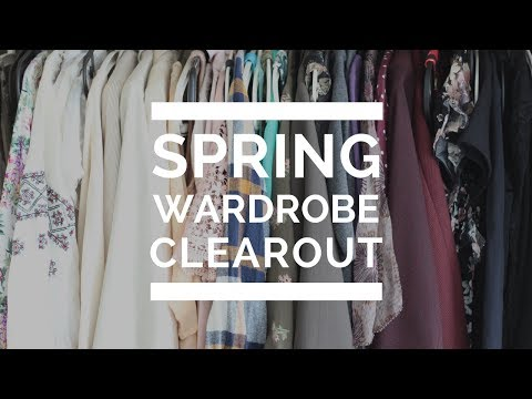 Spring Wardrobe Clearout