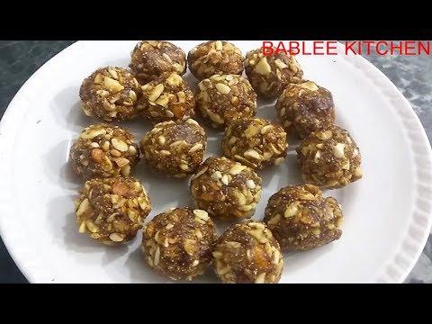Date Nut Pinni- Laddo Recipe | Sugar Free | Khajur Dry Fruit Pinni-Laddo