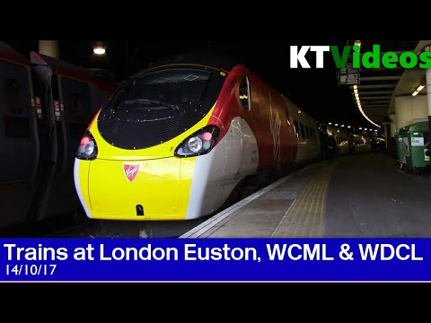 Trains at London Euston, WCML + WDCL - 14/10/17
