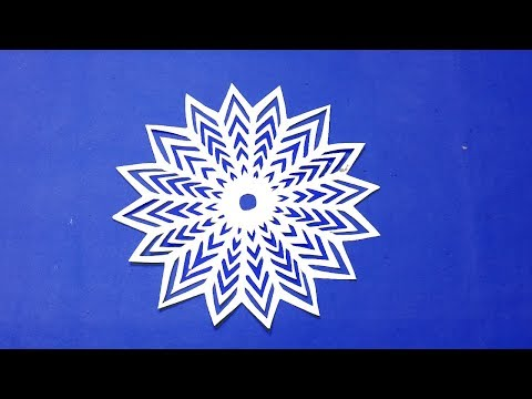 star wars snowflakes-How to make paper snowflakes easy? Paper cutting design.