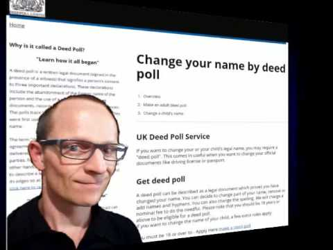 Legal Procedures For England And Wales Change Name DeedPoll