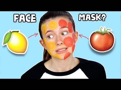 TESTING FRUIT SLICES FACE MASKS! ♡ (very weird)