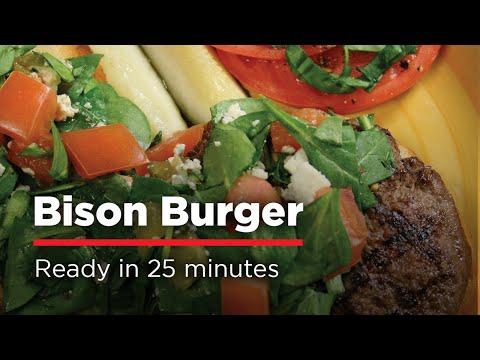 Best Bison Burger   H-E-B Recipes