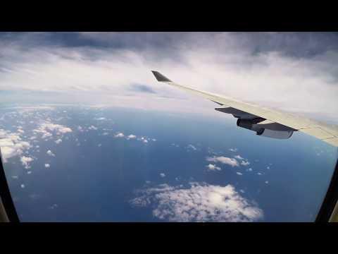 Qantas 747 Brisbane to Los Angeles Nov 2016 With time lapse sunset.