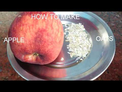 APPLE OATS  BABY FOOD RECIPE  HOMEMADE SOLUTION FOR CONSTIPATION IN BABIES
