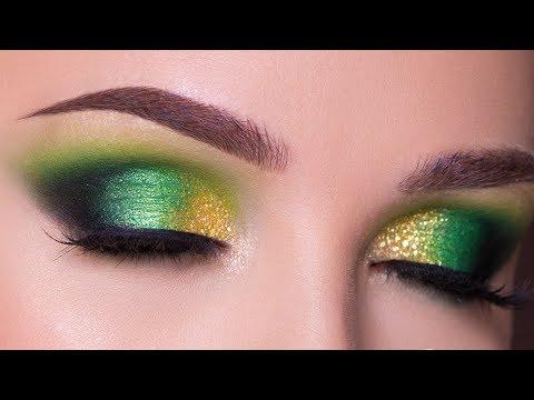 Green and Gold Smokey Eye Makeup Tutorial | Fall Makeup