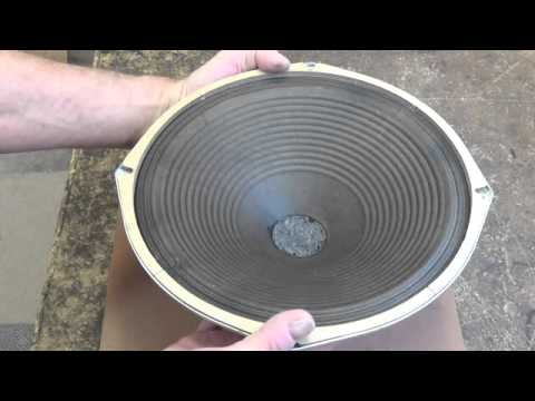 Vintage Speaker Cone Renovation and Repair without Re-Coning