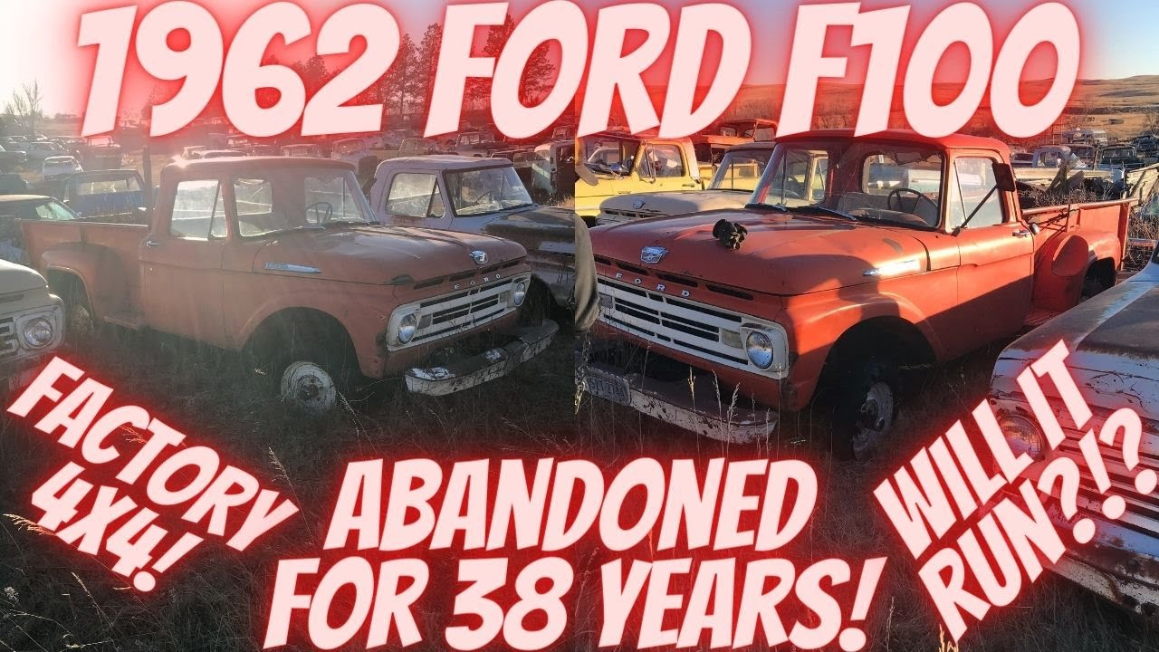 Abandoned in a field for 38 Years! 1962 Ford F100 4X4 Y-BLOCK! Will It Run?!?