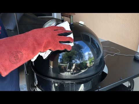 Steam Cleaning Weber Smokey Mountain Lid & Middle Cooking Section - TVWB - virtualweberbullet.com