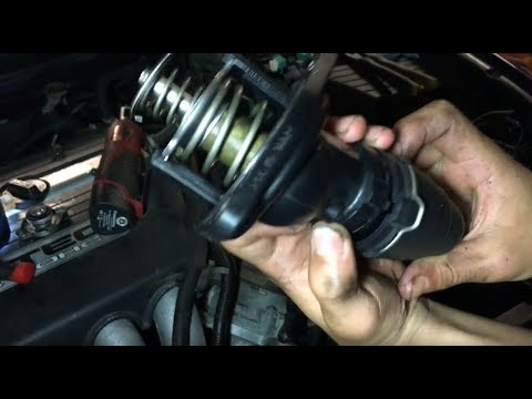 How To Remove Thermostat Engine Coolant 2003-2007 Honda Accord | Install / Replace DIY Repair Guide
