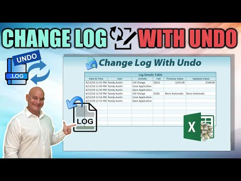 How To Create A Change Log WITH UNDO In Excel (Part 1)