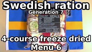 Swedish ration - 4 course freeze-dried - Menu 6 (Gen 7)