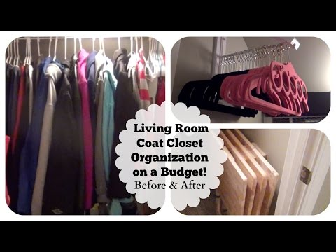 Small Under-the-Stairs Living Room Coat Closet Organization on a Budget! Before & After!
