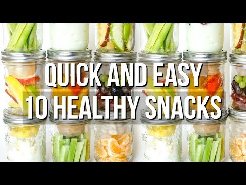 10 QUICK AND EASY HEALTHY SNACK IDEAS | SCCASTANEDA