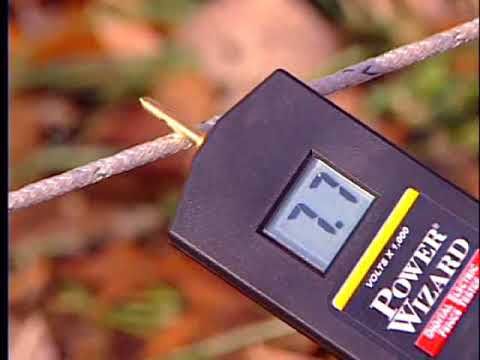 Testing Electric Fence with a digital voltmeter