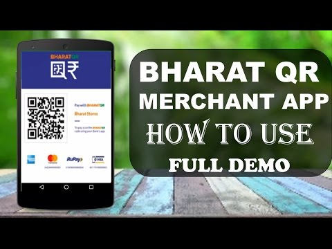 ALL ABOUT BHARAT QR CODE MERCHANT APP  HOW TO USE  (HINDI)