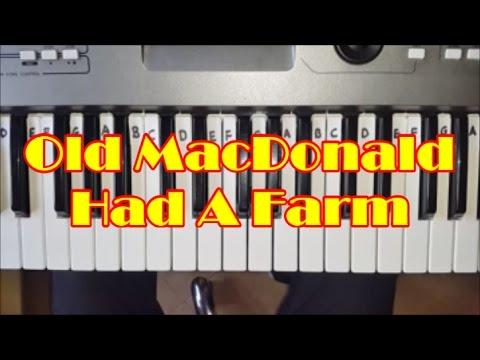 Old MacDonald Had A Farm Easy Piano Keyboard Tutorial
