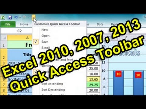 Excel Tip #007 - Quick Access Toolbar (QAT) Customise & Reset - Microsoft Excel 2010 2007 2013