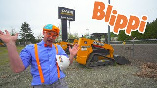 Blippi Explores Construction Trucks For Kids | Blippi Videos | Educational Videos For Toddlers
