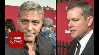 George Clooney and Matt Damon on Harvey Weinstein - BBC News
