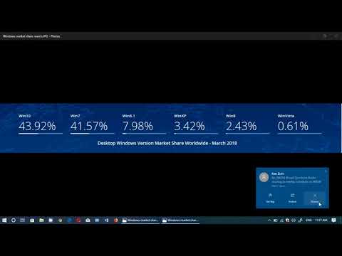 Quick look at March 2018 Windows Market share numbers