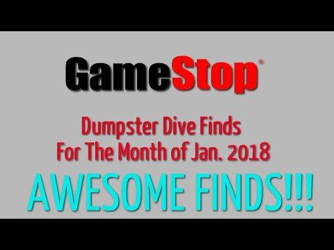 GameStop Dumpster Dive Jan. 2018 - Finds for the month
