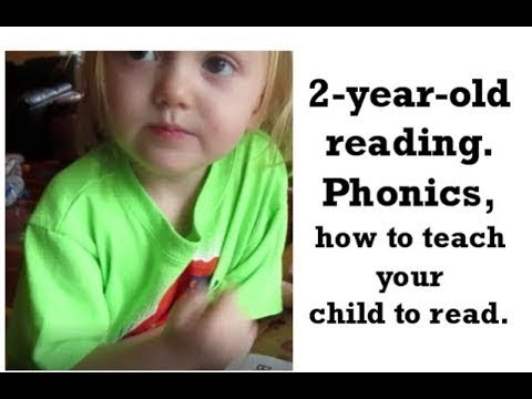 2 year old reading  Phonics, how to teach your child to read