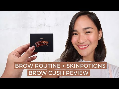 MY BROW ROUTINE + SKINPOTIONS BROWCUSH REVIEW | Tin Cruz (Philippines)