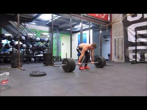 Fast power clean 145kgs/320 lbs Pascal Plamondon