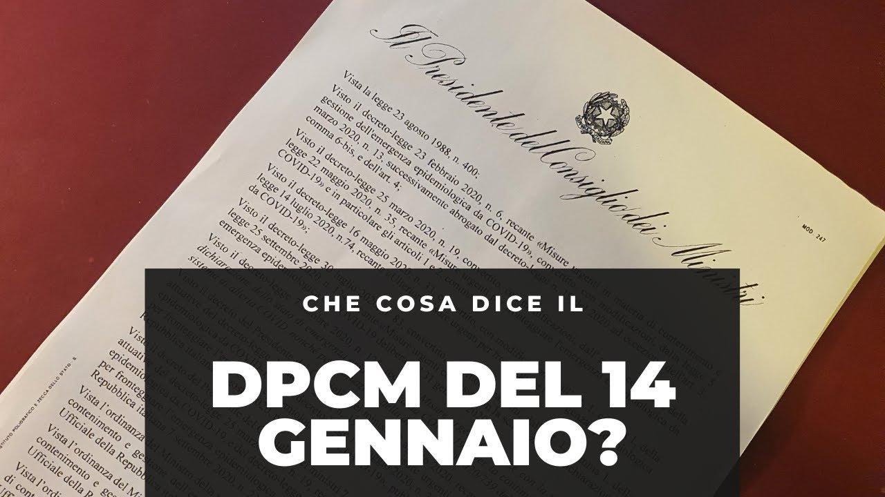 DPCM 14 gennaio 2021 ( 16 gennaio 2021 ) che cosa dice? Limitazioni agli spostamenti e chiusure