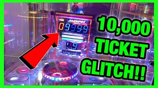 10,000 TICKET MONSTER DROP ARCADE GAME MAJOR JACKPOT GLITCH!