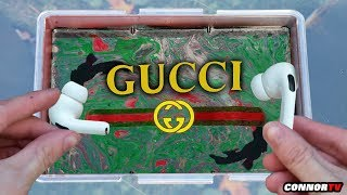HYDRO Dipping Apple AirPods - GUCCI (Satisfying)