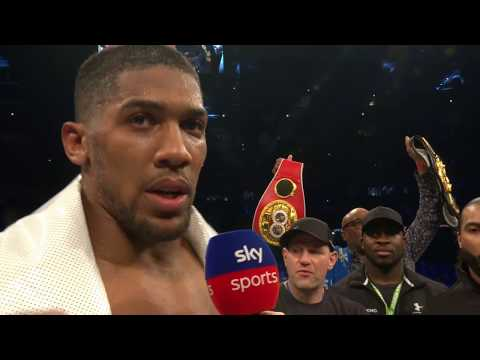 POST FIGHT INTERVIEW: Anthony Joshua says he would knock Wilder 'spark out' after beating Parker